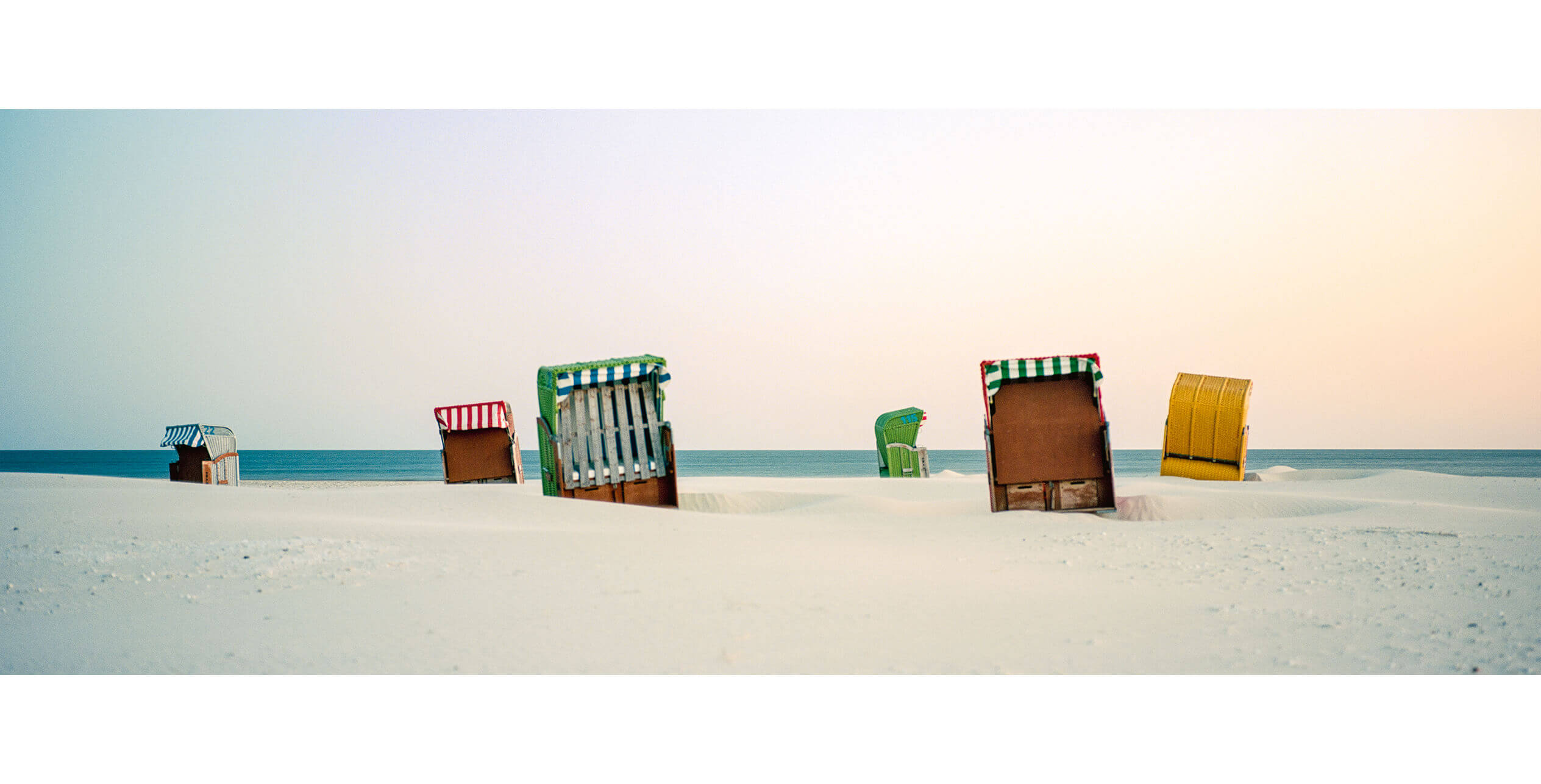 Postkarte Fotografie El Dorado Amrum Fahrradverleih Strandkörbe